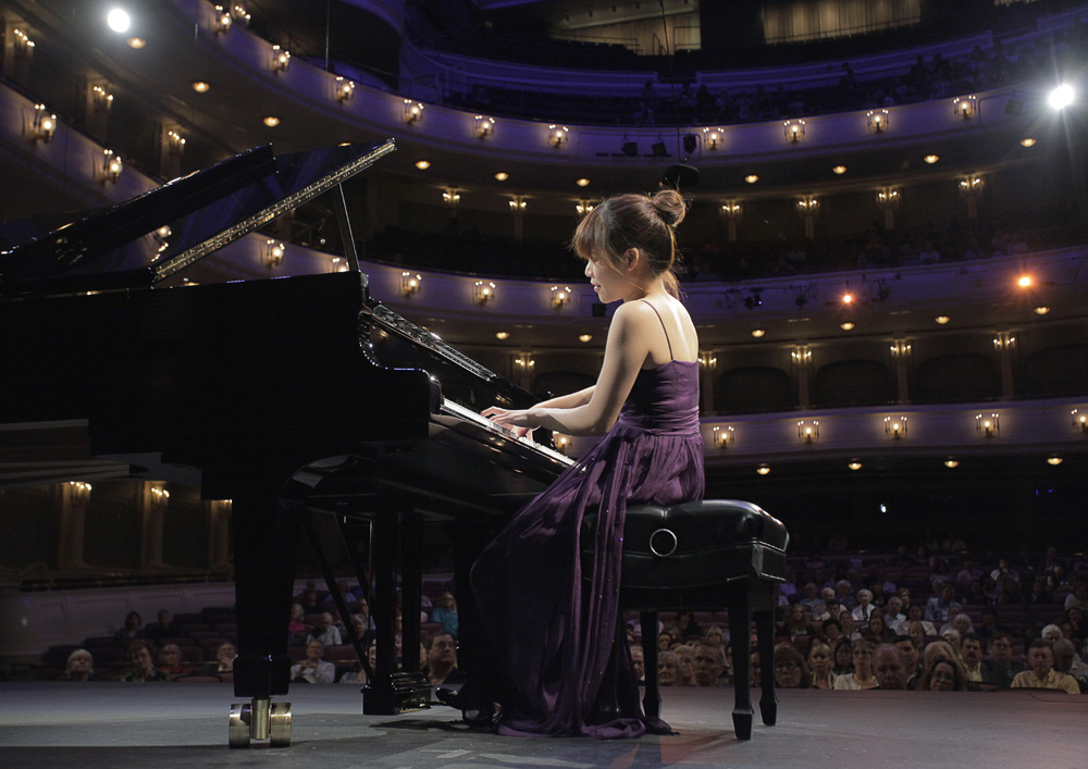 May 30, 2017. Rachel Cheung from Hong Kong performs during the Quarterfinal Round on Tuesday at The Fifteenth Van Cliburn International Piano Competition held at Bass Performance Hall in Fort Worth,  Texas. (Photo Ralph Lauer)